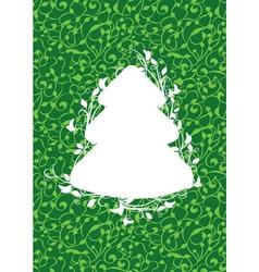 X mas fir green vector