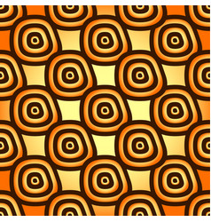 Yellow-orange seamless pattern free form shapes vector