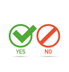 yes and no icons web buttons vector image