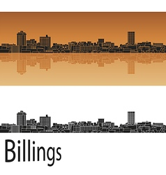 Billings skyline in orange vector image vector image