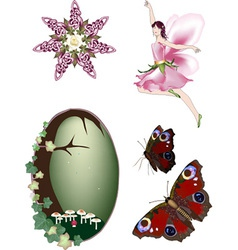Collection of Enchanted Faerie vector image vector image