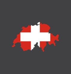 switzerland flag and map vector image vector image