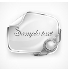 White sticker vector image