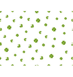clover seamless pattern green leaves on a white vector image vector image