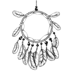 Ethnic tribal dream catcher with feathers vector image