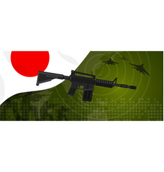 japan military power army defense industry war and vector image vector image