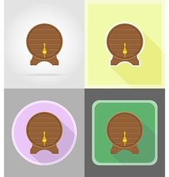 pirate flat icons 14 vector image vector image