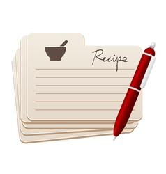 recipes vector image