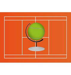 Tennis ball design vector image vector image