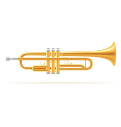 trumpet wind musical instruments stock vector image vector image