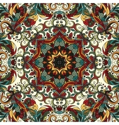 Abstract decorative ethnic floral colorful vector image vector image