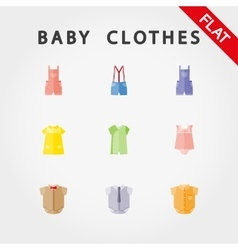 Baby clothe icons vector image vector image