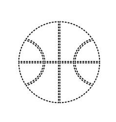 basketball ball sign black vector image vector image
