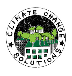 climate change buildings vector image
