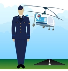 Military uniform force pilot-5 vector