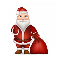 Santa Claus and a bag of gifts vector image vector image