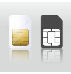 Sim card Mobile telecommunication vector image
