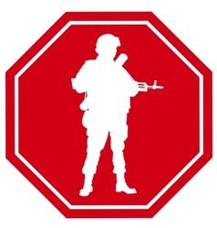 Stop war sign vector image vector image