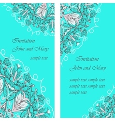 Wedding cards or invitation with abstract floral vector image