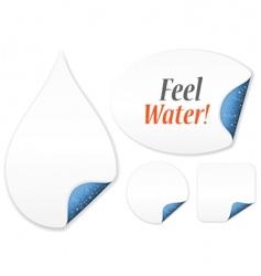 feel water vector image vector image