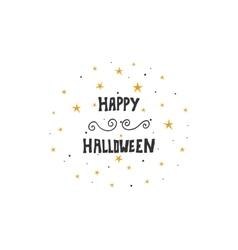 Happy Halloween message design background Hand vector image vector image