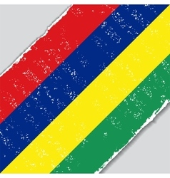 Mauritius grunge flag vector image