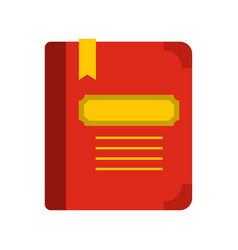 Tutorial with bookmark icon flat style vector