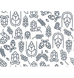Twigs hop seamless pattern vector