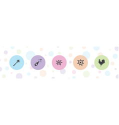 5 year icons vector