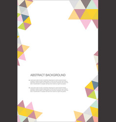 abstract geometric design background template 6 vector image