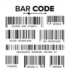 bar code set modern simple flat barcode vector image