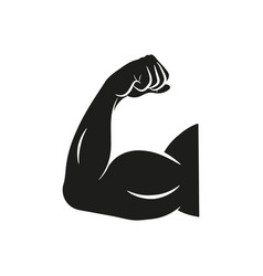 Biceps flex arm icon muscular bodybuilder vector