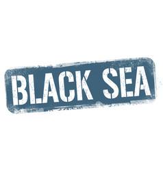 black sea sign or stamp vector image