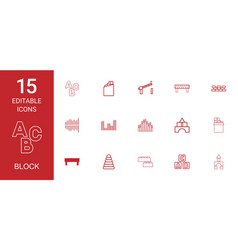 block icons vector image