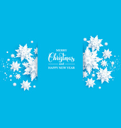 blue paper cut snow vector image