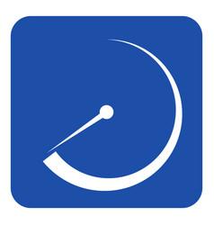blue white information sign - gauge dial symbol vector image