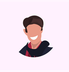 casual man face avatar business man smiling male vector image