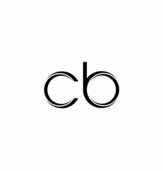 cb logo monogram with slice rounded modern design vector image