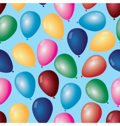 Colorful balloons with helium pattern eps10 vector