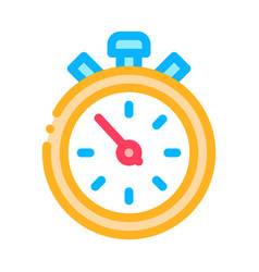 competition sport stopwatch icon outline vector image