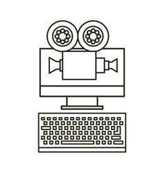 Computer device icon vector