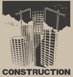construction industry poster vector image
