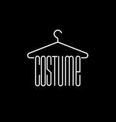 Costume line flat logo vector