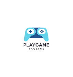 Creative gamepad or joystick for game logo design vector