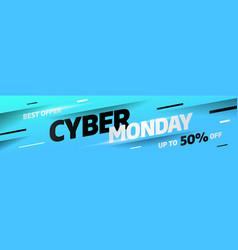 cyber monday discount sale concept inscription vector image