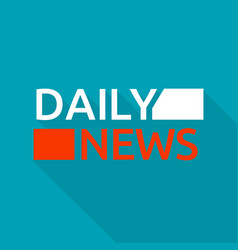 daily news logo flat style vector image