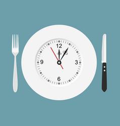 dinner time flat design vector image