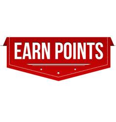 earn points banner design vector image