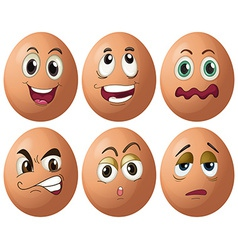 Egg expressions vector image
