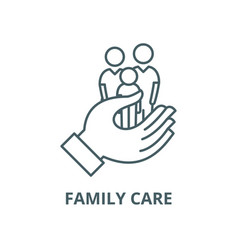 family care line icon linear concept vector image